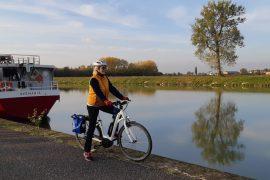 approdo di Ostiglia sul Canalbianco, formula barca + bici Girolibero