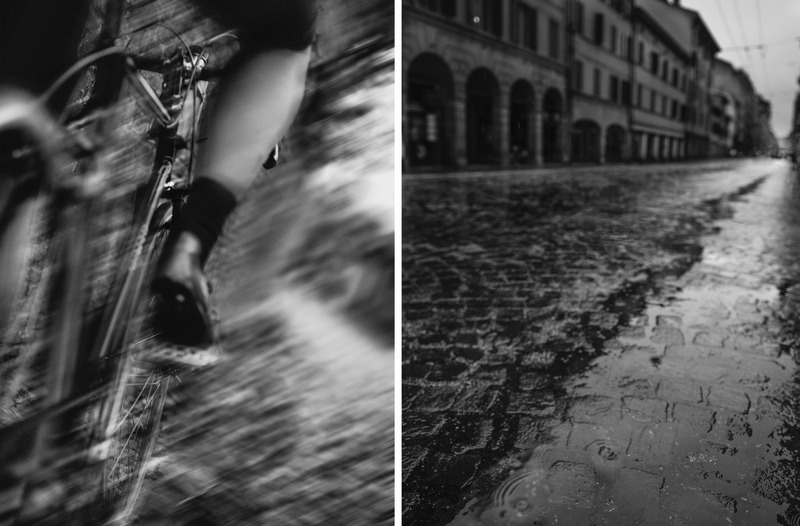 donna in bici con la pioggia ph Ilona Kamps