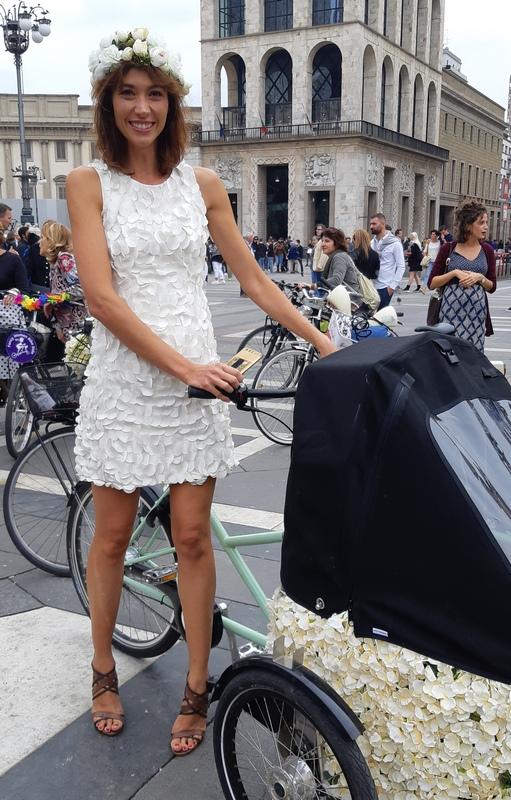 Antonella Pesenti con triciclo Fancy Women Ride di Milano 2019