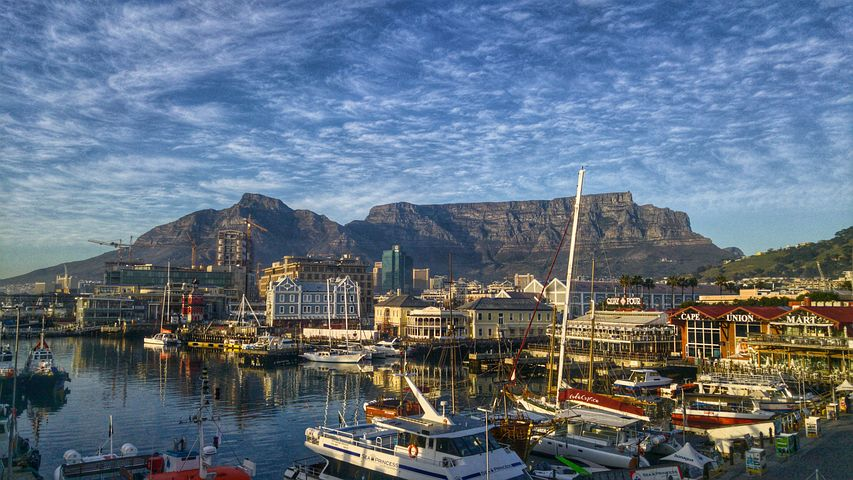 altopiano di Table Mountain a Cape Town