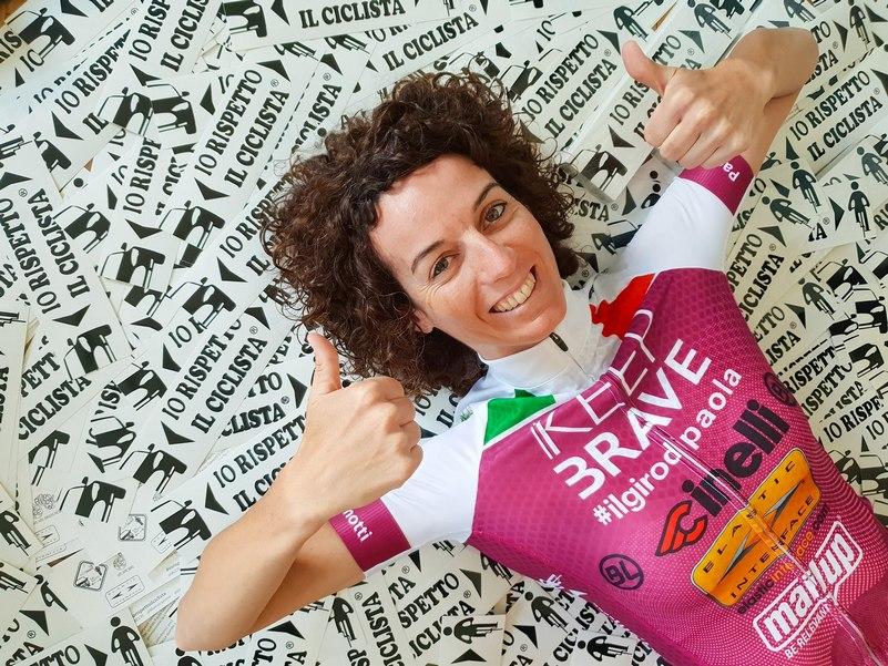 Paola Gianotti campagna Io rispetto il ciclista