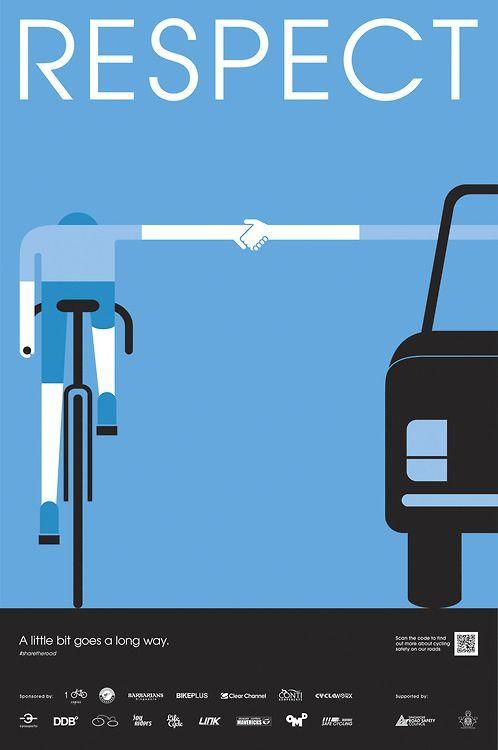 distanza di sicurezza tra auto e ciclista, manifesto