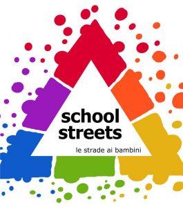 logo campagna strade scolastiche a favore pedonalizzazione strade davanti alle scuole