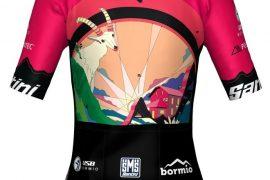 maglia ciclismo donna ottenuta da plastica riciclata per granfondo stelvio salntini