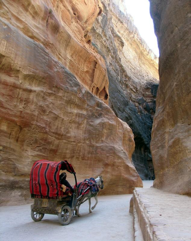canyon di entrata a Petra