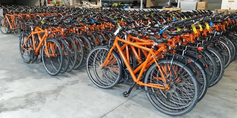 bici di Girolibero nel deposito di Vicenza