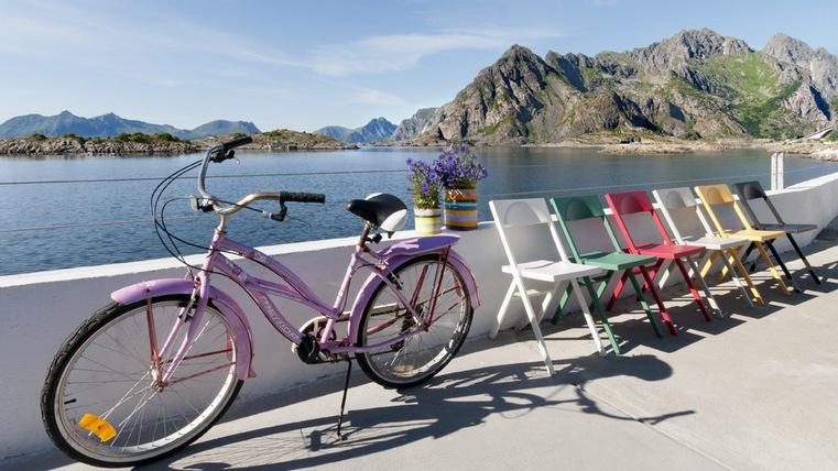 bicicletta alle Lofoten