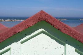 cabina su spiaggia Mare Adriatico