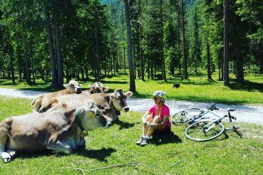 mariateresa montaruli in bici san vigilio di marebbe
