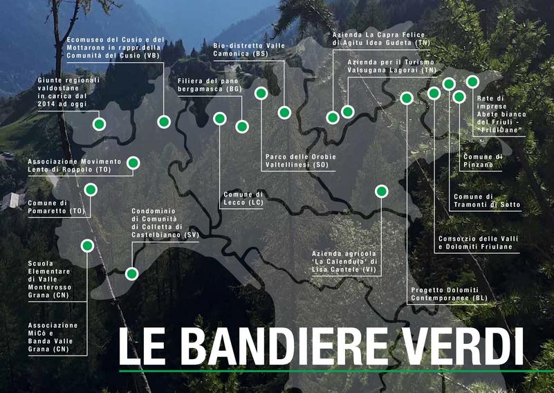 bandiere verdi legambiente 2020 cartina