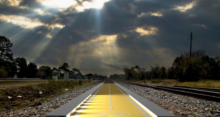 pista ciclabile a moduli moove per ex ferrovie riconvertite in greenway