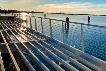 ciclabile a sbalzo sulla laguna di venezia, cavallino treporti