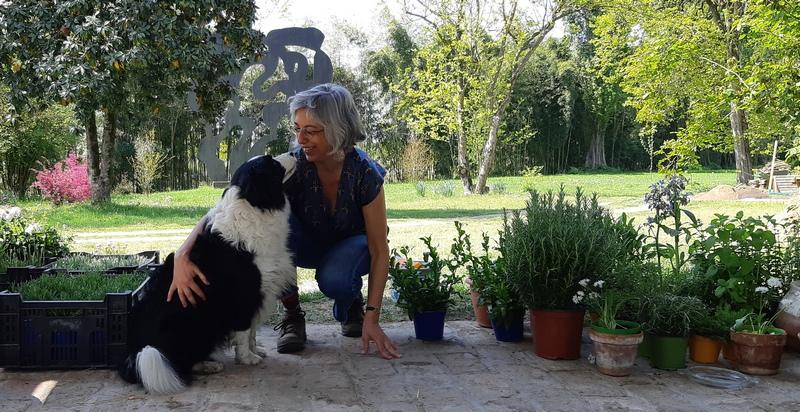 Mariateresa Montaruli e la sua border collie Laya